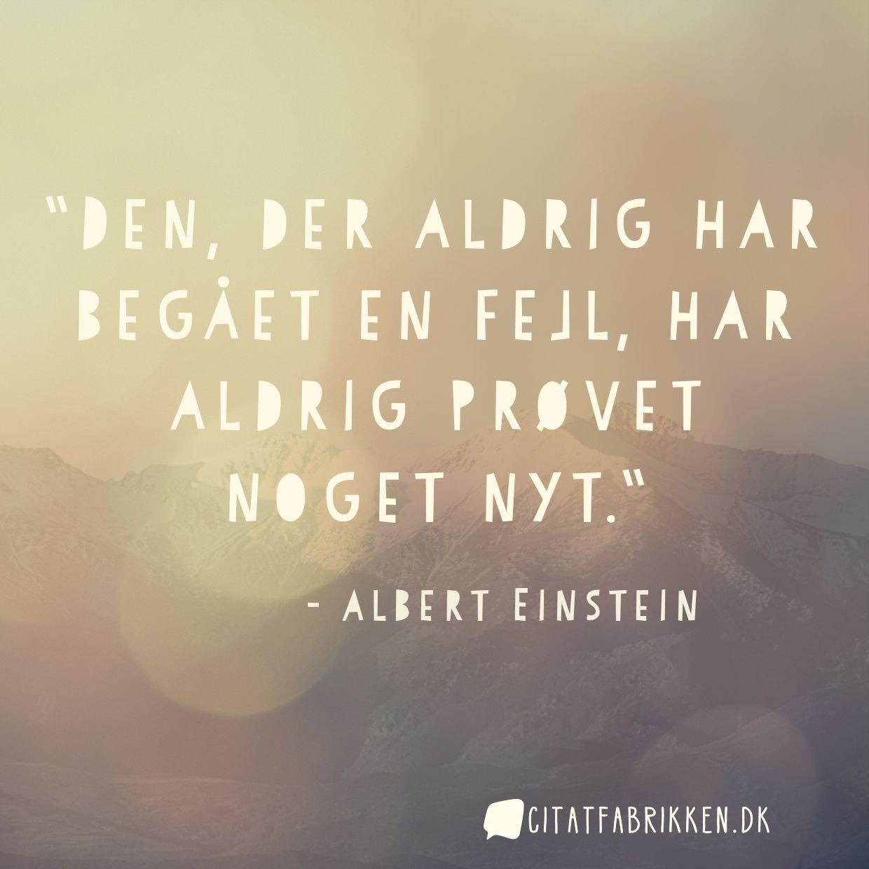 citater om fejl Citat | Albert Einstein citater om fejl