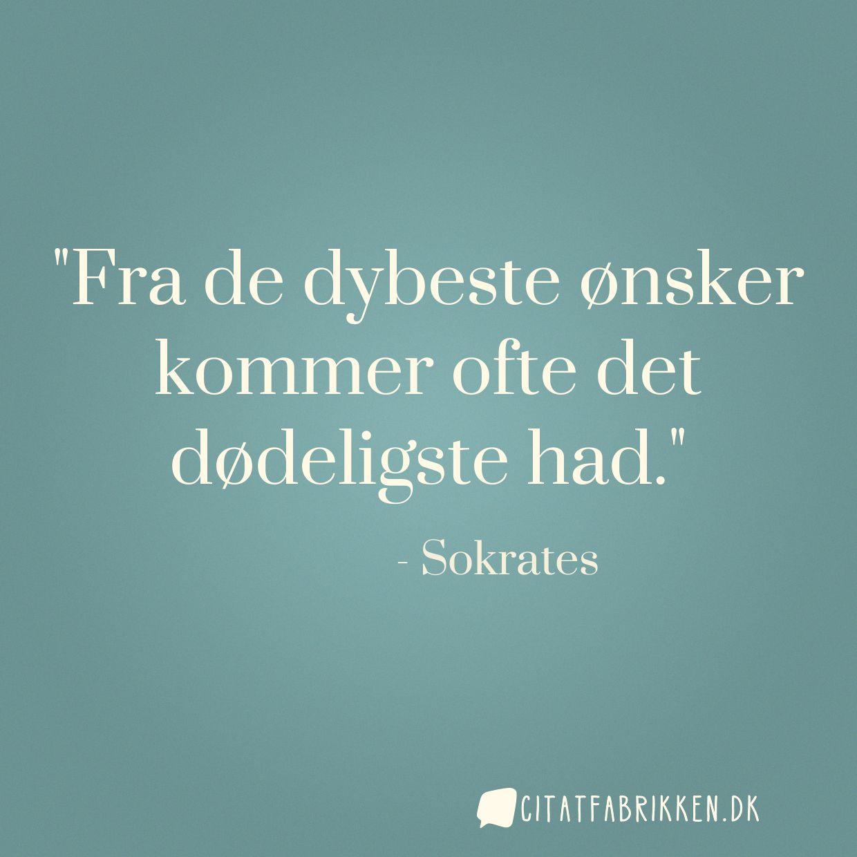 citater om had Citat | Sokrates citater om had