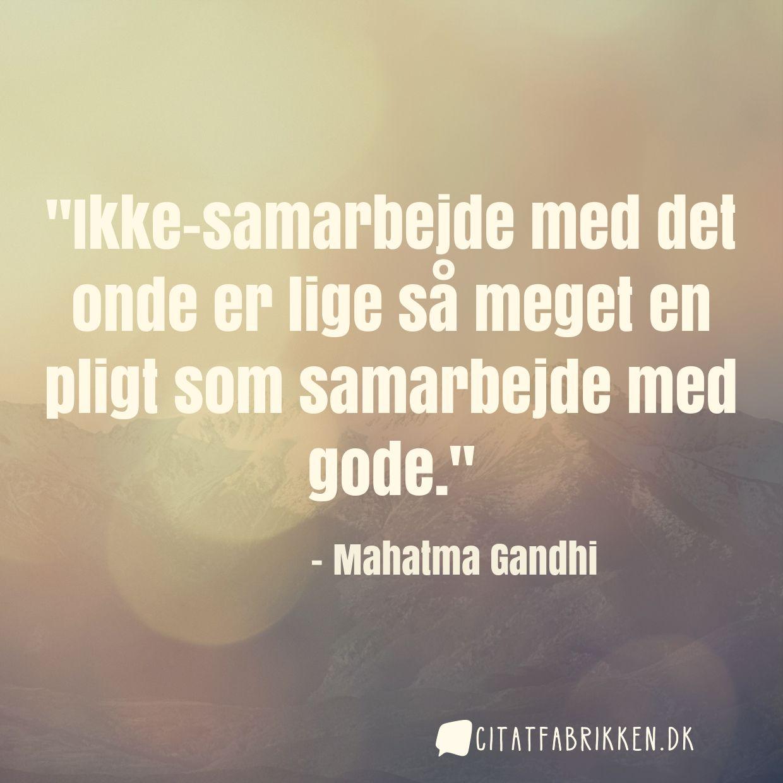 citater om samarbejde Citat | Mahatma Gandhi citater om samarbejde