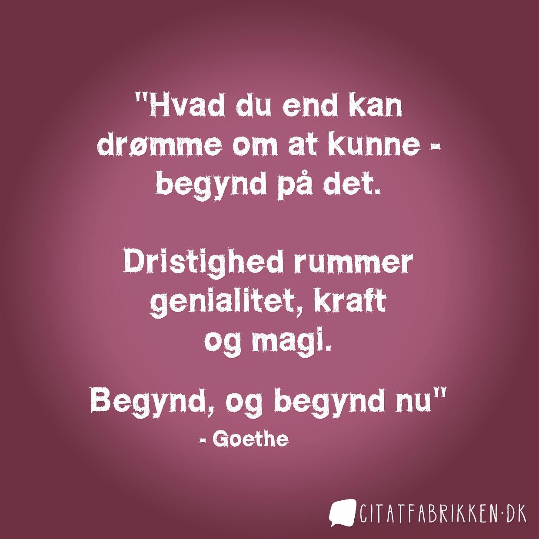 Citat om drømme af Goethe
